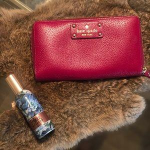 NWOT Christmas Burgundy Kate Spade Wallet
